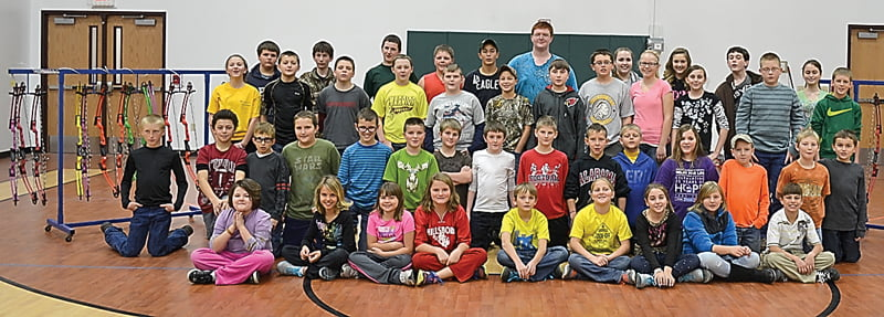 More than 60 students from the elementary and middle schools in Pocahontas County have joined the Archery Team started by Jody Spencer, Becky Spencer and Bob Simmons. The team meets every Thursday and Saturday at the Pocahontas County Community Wellness Center in Marlinton.