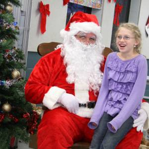 A special guest made an appearance in Marlinton on Friday. Santa Claus visited with kids during the Rotary Club's annual pancake dinner at Marlinton Elementary School. Santa heard the kids' Christmas wishes and handed out some early treats. Later that evening, Santa was seen riding in a fire truck in Marlinton's Christmas parade.