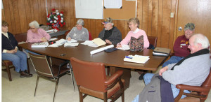 Marlinton Town Council in session on January 8, 2014.