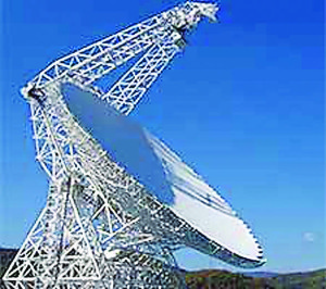 ROBERT C. BYRD Green Bank Telescope, the largest fully steerable radio telescope in the world. Photo courtesy of NRAO eNews.