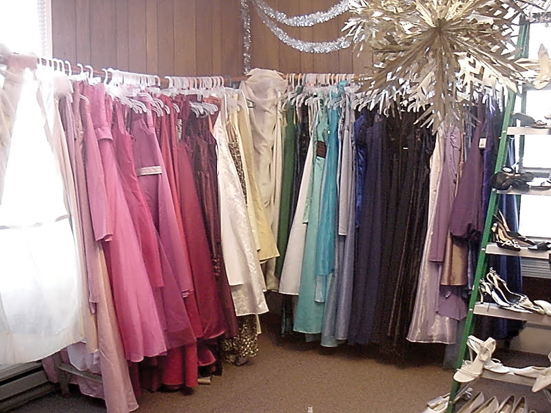 Dresses in a variety of colors and sizes are available at the Marlinton Woman's Club Prom Shop in Marlinton. S. Stewart photo