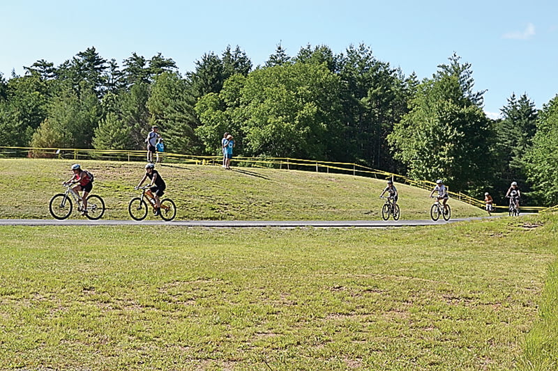 Photo by Suzanne Stewart Cyclists participate in the Cyclocross race during the first Space Race Rumpus in 2012 at the National Radio Astronomy Observatory in Green Bank.
