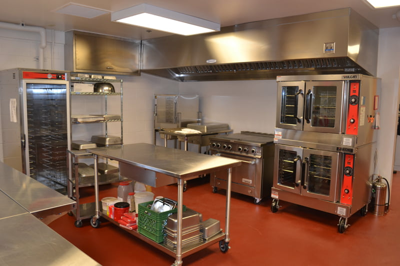 A state-OF-the-art kitchen was added during construction of the new cafeteria at Hillsboro Elementary School. S. Stewart photo