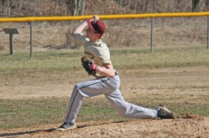 PCHS sophomore pitcher Braxton Ryder threw a three-hitter with 13 strikeouts and got a win over Meadow Bridge last Thursday at Stillwell Park. Ryder also hit an RBI single. G. Hamill photos.