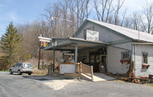 Mill Gap Store in Highland County, Virginia, can receive reliable six megabit Internet service from Highland Telephone Cooperative. Seven miles west of the store in West Virginia, Frontier Communications customers can  receive only spotty 768 kilobit service - eight times slower than the service at Mill Gap.