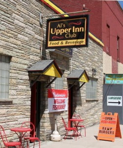 Al's Upper Inn Club in Durbin sits right across from the train station. The Inn has some of the best burgers in the region.