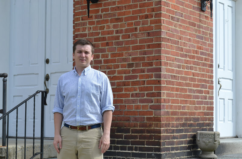 Andy Rice, a native of western North Carolina, came to Hillsboro and the Oak Grove Presbyterian Church in September for his first full-time position in ministry. S. Stewart photo