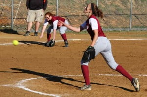 PCHS third baseman Emily Boothe and pitcher Bobbie McNabb have worked hard to help make the Lady Warriors a winning team this season.