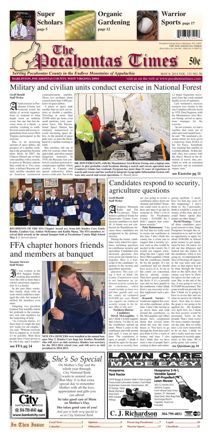 eTimes for May 8, 2014
