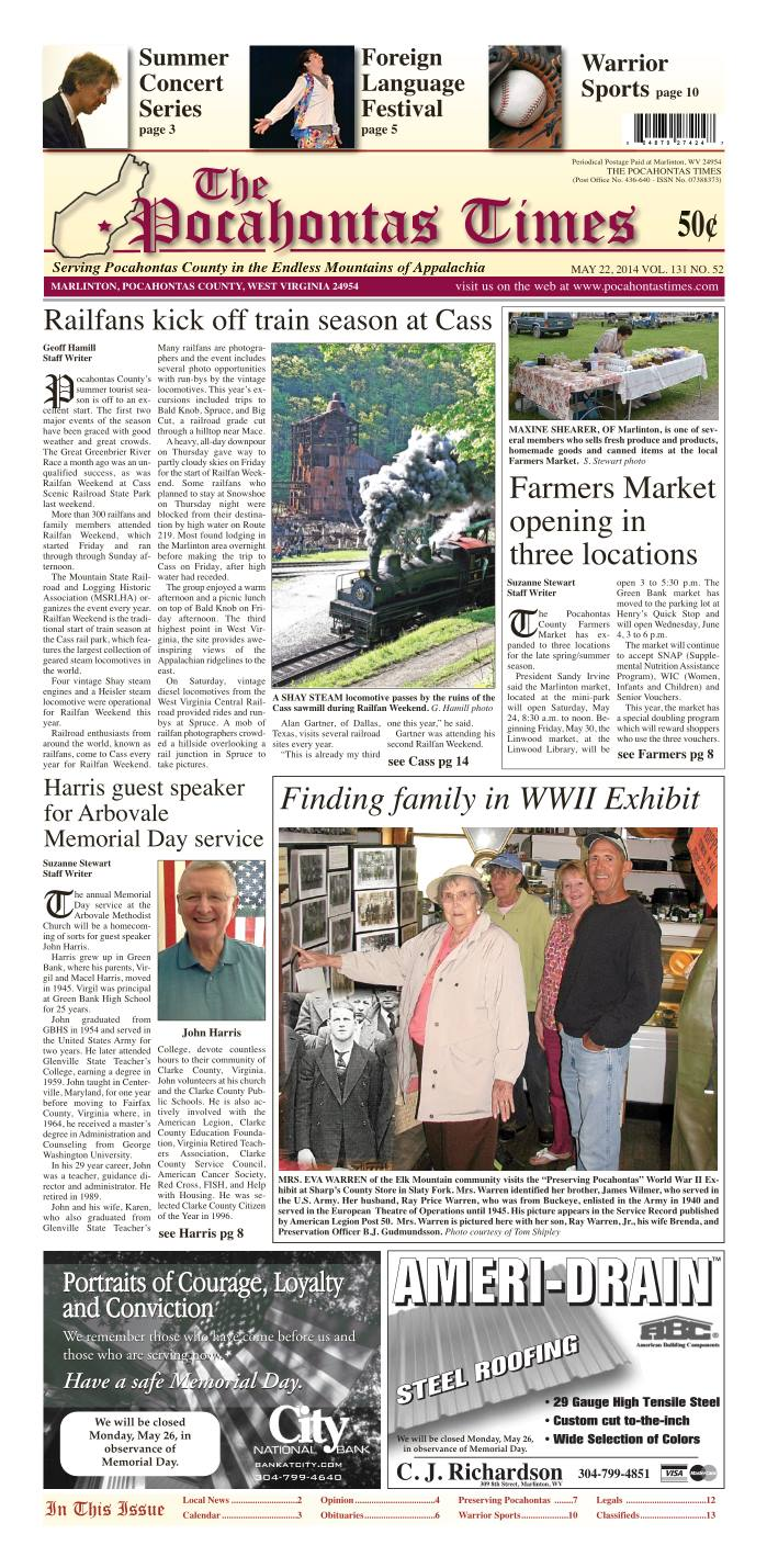 eTimes for May 22, 2014