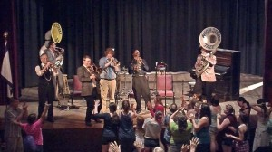 The High Street Jazz Band, from Morgantown, performs at the Marlinton Opera House on June 20, 2014. Ticket receipts from the show were donated to the the Opera House.