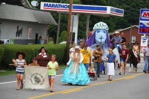 The Little Levels Heritage Fair parade enters downtown Hillsboro on Saturday afternoon.