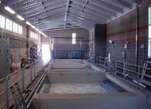 A membrane biological reactor inside a building, similar to a sewage facility proposed for the Snowshoe area. Siemens, Inc. photo.