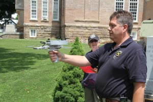 Pocahontas County Emergency Management Services Director Shawn Dunbrack receives training on a Project Lifesaver radio tracking receiver. The receiver will pick up the signal from a Project Lifesaver transmitter up to a mile away on the ground, or up to seven miles away in an aircraft. The system has helped search teams quickly rescue hundreds of lost persons who were wearing a transmitter.
