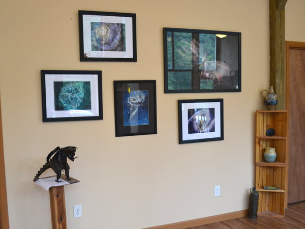 Arbovale artist Dorothy Sutton's Universe series of watercolors is currently on display at the Durbin Art Gallery. The gallery, which opened in July, is operated by the Pocahontas County Arts Council. The council has plans to host a series of showcases featuring local art. S. Stewart photo