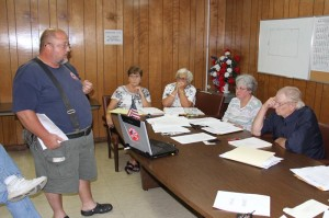Marlinton Fire Department President Thomas Barnisky speaks to Marlinton Town Council on Monday night. Barnisky told Council it had failed to make necessary repairs to fire hydrants and demanded that the repairs be completed.