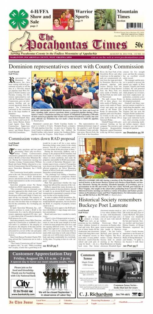 eTimes for August 28, 2014