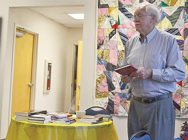 Author and native Pocahontas Countian Jack Moore visited Green Bank Public Library last week and shared stories from his past, as well as information on the books he has written. S. Stewart photo
