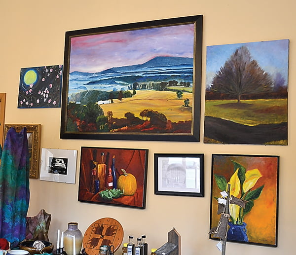 Oil paintings by Glen Langston, and two drawings by Nathaniel Langston, are currently on display at the Durbin Gallery. S. Stewart photo