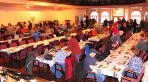 A big crowd attended the National Wild Turkey Federation fundraising banquet and membership drive at the Pocahontas County Opera House on Saturday night. Money raised will support a variety of habitat improvement and education programs.