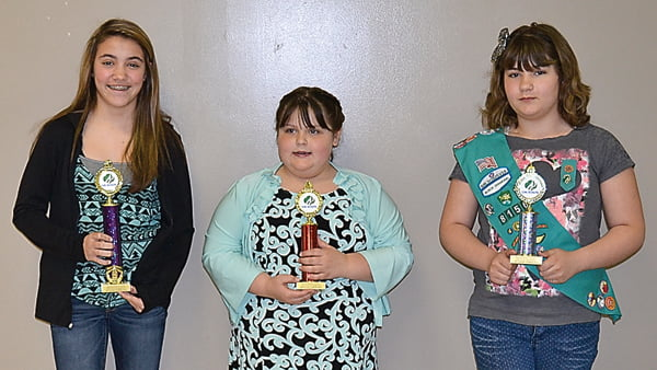 Cookies:first place, Emily Casto; second place, Shay-lee Landis; and third place, Bracie Sheets.