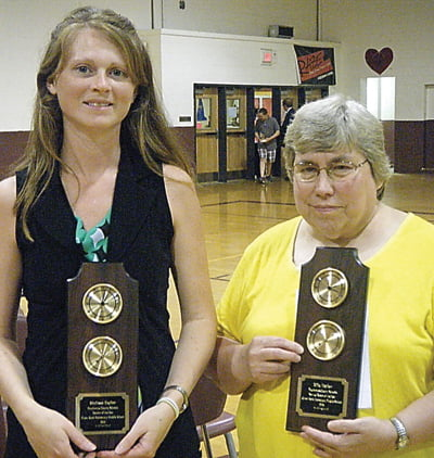 Pocahontas County Teacher of the Year Melissa Taylor, left, and Service Personnel of the Year Ella Taylor were honored at the Super Scholars event May 18. Photo courtesy of Renee Hill