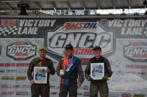 From left to right: Robert Smith, Kevin Trantham and Bryan Buckhannon took to the podium after their 4x4 Pro class wins. Trantham emerged victorious, securing his fourth win of the season, while Smith and Buckhannon came in second and third, respectively. Photo courtesy of David Moore