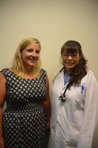 Community Care of West Virginia's newest addition, Dr. Jennifer Rose, left, with Dr. Pat Browning.        C. Moore photo