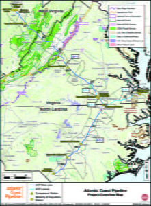 Atlantic Coast Pipeline, LLC said it considered more than 3,000 miles of potential routes and made hundreds of route adjustments based on discussions with landowners, public officials and others. The proposed, but not yet final route shown on this map traverses 81 miles in West Virginia. Map courtesy of Dominion Energy