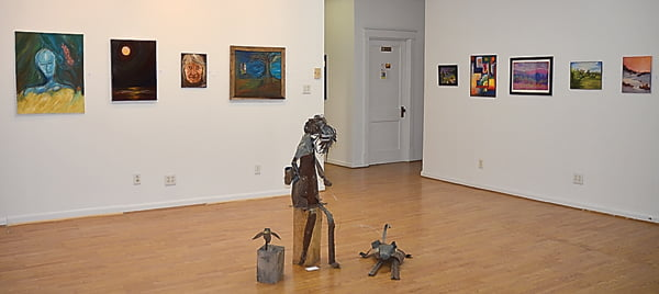 Gallery owner Kristy Lanier intends to use the front room as a rotating gallery, featuring a variety of artwork from local and out-of-state artists, and hopes to maintain a calm atmosphere. C. Moore photo