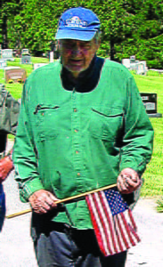 """They deserve to be remembered,""caretaker Frank Gravely often said of veterans interred at Mountain View Cemetery. Gravely put flags on more than 550 graves each Memorial Day. G. Hamill photo"