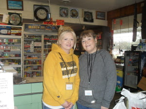 Clerks Debbie Birely and Sherry Chestnut love the store and love the people.