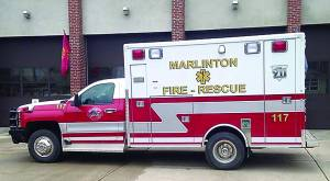 MUCH HAS BEEN reported about the hours and expense involved in operating a rescue squad, but few people are aware of the time and sacrifice responders put in to attain certification for the benefit of the people whom they serve. In addition to hours of class and study, each man or woman must complete 750 hours of volunteer clinical time. Photo courtesy of Marlinton Fire and Rescue