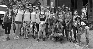 SEVERAL POCAHONTAS COUNTY students traveled with Spanish teacher Shirlene Groseclose to Costa Rica and Nicaragua as part of their emersion in Spanish culture. Above, the group poses with students from Maryland.