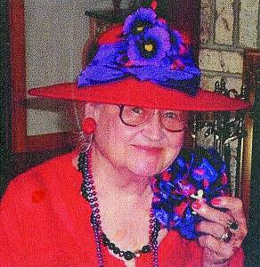 INA MONTGOMERY SERVED as Red Hat Queen Grandmother of the Purple Pansy Red Hatters.
