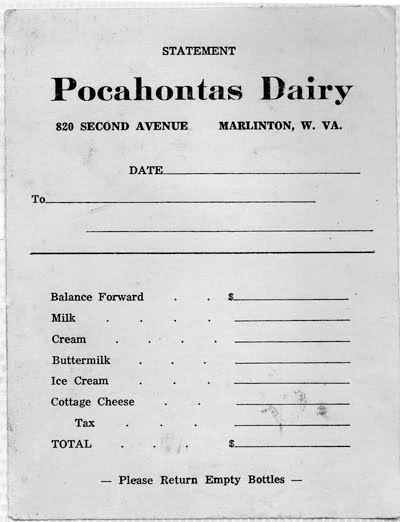 One of Keith Moore's first jobs was at the Pocahontas Dairy, located on Second Avenue in Marlinton. Moore made buttermilk, cream, ice cream and delivered milk for the company. The building now houses the Clean Cow Laundromat.