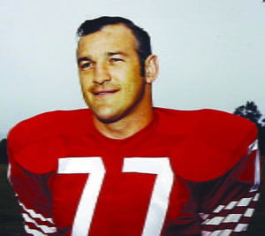 Durbin native Bruce Bosley began his football career at Green Bank High School, where he graduated in 1952. He played at West Virginia University from 1952-55 before moving on to the National Football League. He played for the San Francisco 49ers in the late 50s, early 60s and retired from the NFLin 1969 as an Atlanta Falcon.