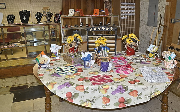 """Handmade items, including jewelry, gift baskets and needlework are available at This, That and the Other, located in the former store/restaurant known as """"Wayne's."""" S. Stewart photos"""
