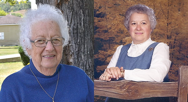 Left photo: Dunmore resident Joann Fromhart taught in Pocahontas County for more than 30 years. She continues to  share the memories of her days in the classroom and of her students. S. Stewart photo Right photo: Joann Fromhart was named  Pocahontas County Teacher of theYear in 1984.