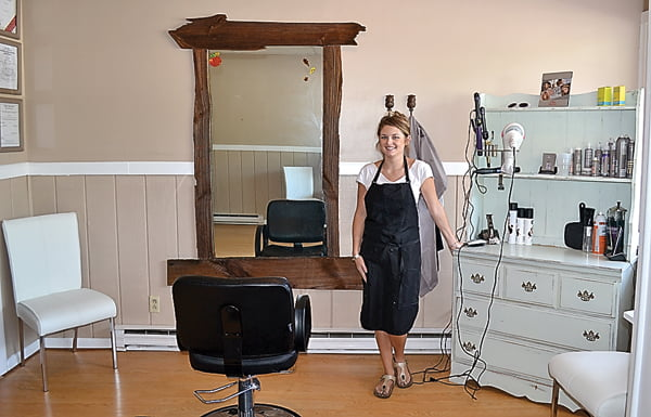 New to the block in Marlinton is Allie's Shop, a hair salon owned and operated by Allie Erlewine, above. Erlewine opened the salon last week and is excited to be in business in her hometown. S. Stewart photo