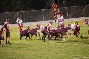 Pocahontas County High School Warriors were tough on offense and defense in Friday night's win over the Tygarts Valley Bulldogs. Final score PCHS 64, Tygarts Valley 24. D. Workman photo