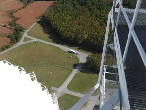 A rare photo of the tour bus and tourists from the top of the GBT. There's  a spot reserved for you on one of the many Science Center tours at the Green Bank Observatory. Beginning Thursday, November 3, the Science Center will be open from 10 a.m. to 6 p.m., Thursday through Monday, and tours are offered three times each day, at 11 a.m., 1 p.m. and 3 p.m. If you've ever been curious about the universe we live in, or simply want to understand what the Observatory is all about, this is the place for you.