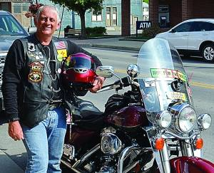 POCAHONTAS COUNTY NATIVE Tim Brown was among 500 motorcyclists in this year's Run for the Wall – from Ontario, California to the Vietnam Veterans Memorial in Washington, D.C. C.D. Moore photo